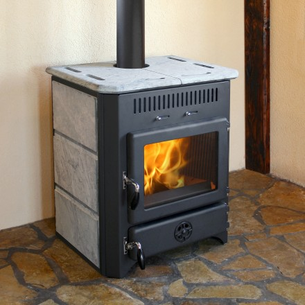 Poêle à bois bouilleur Thermovulkan 20 kW